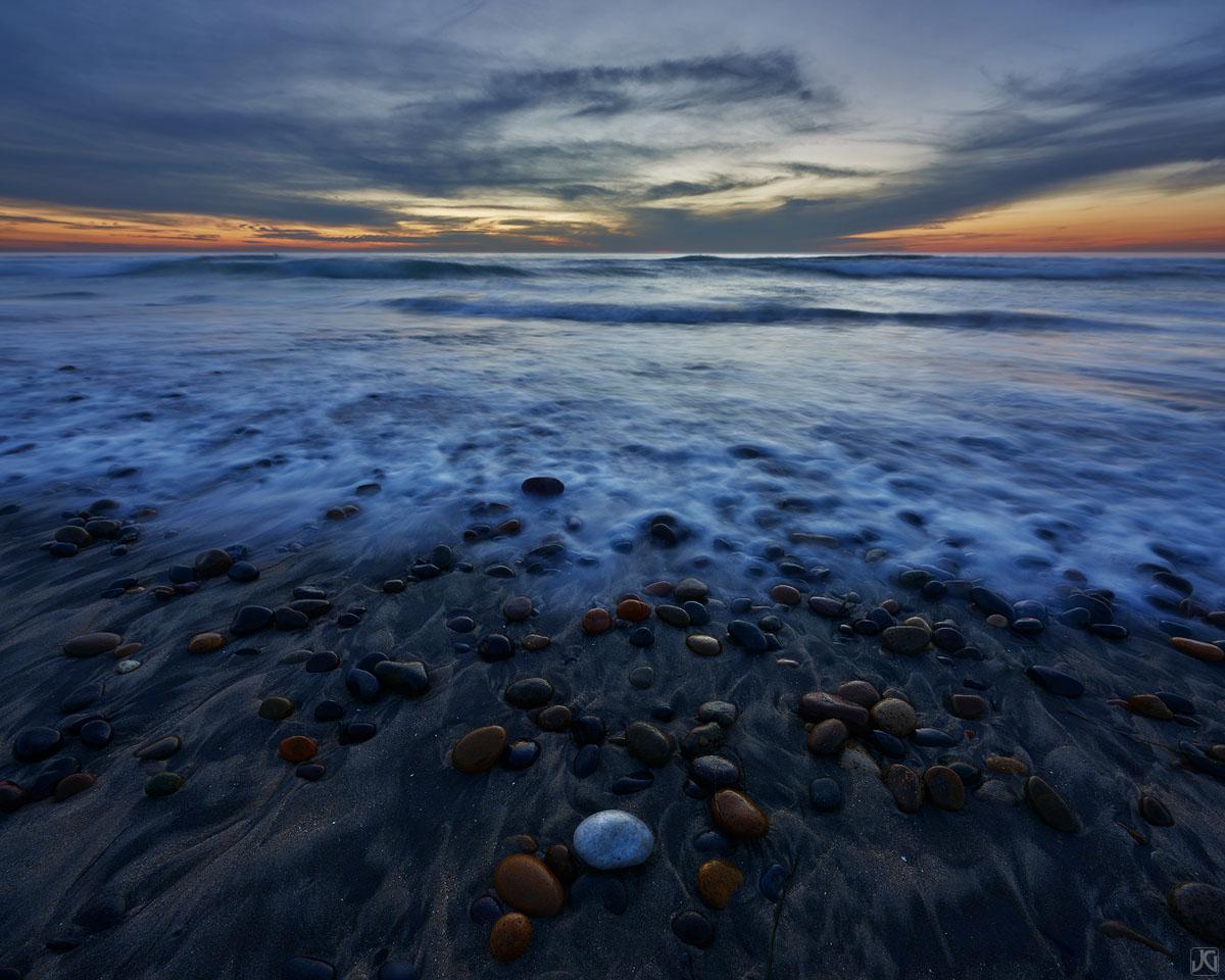 California, Del Mar, sunset, beach, sea, photo