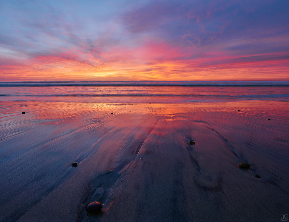 California, Del Mar, San Diego, sand, sunset, coast, photo