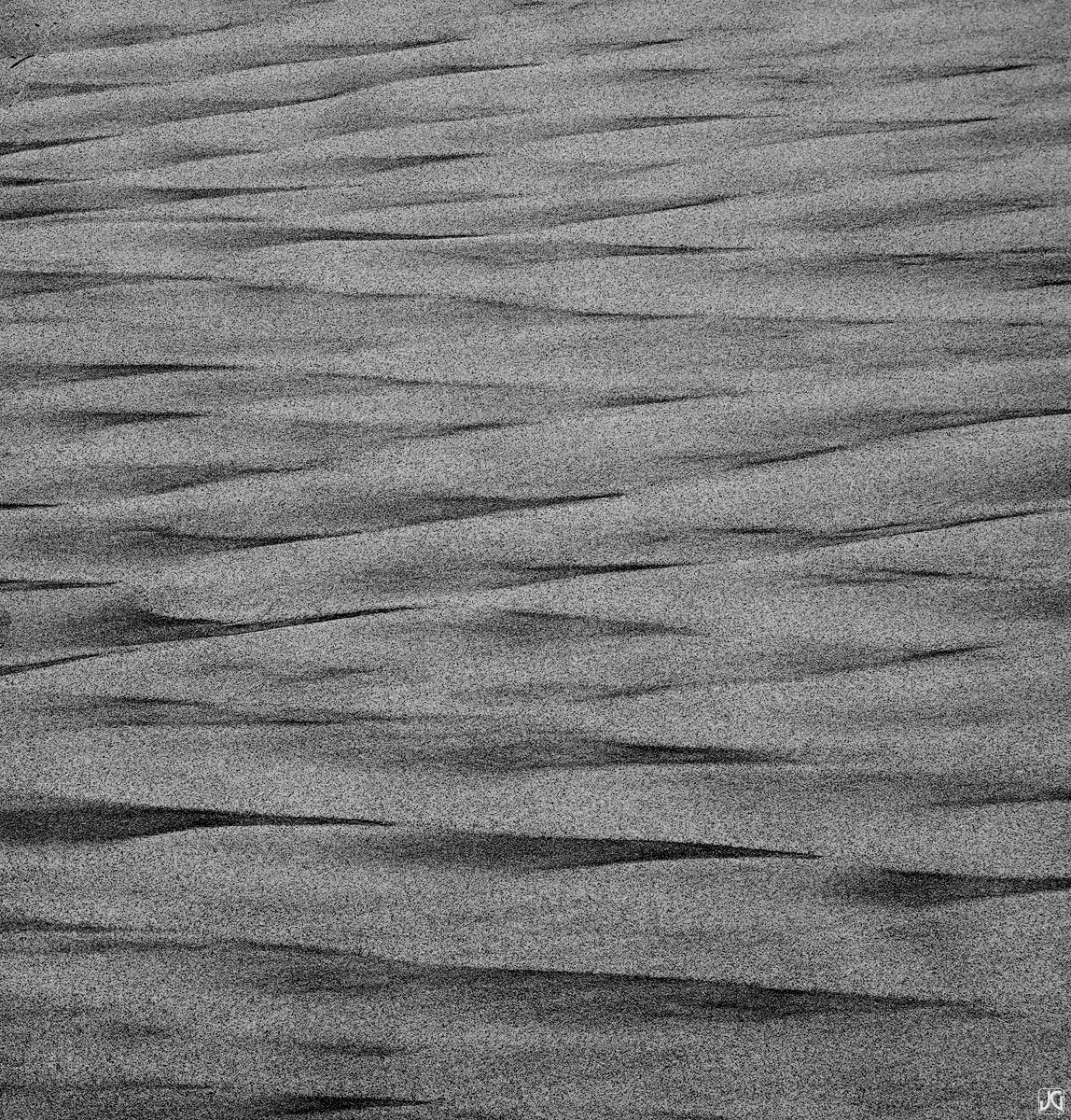 Looking north or south, one gets a different viewpoint of these sand patterns.