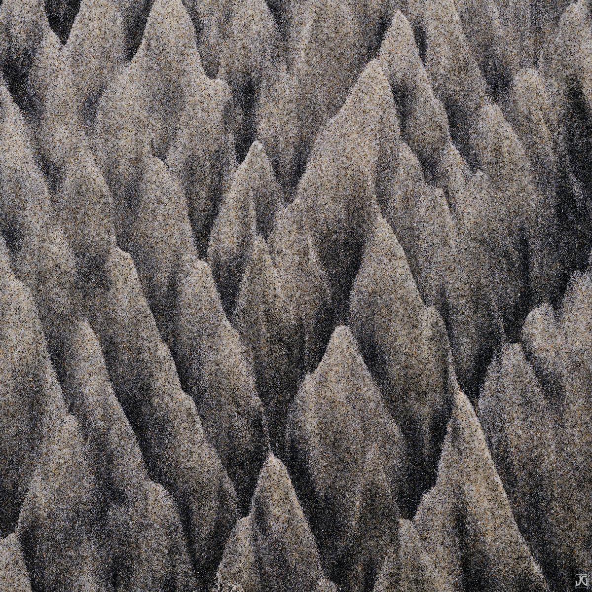 California, sand, beach, mountains, patterns, photo