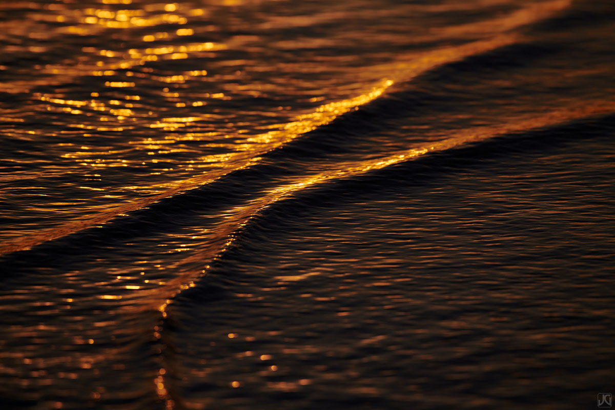 sunset, tide, beach, california, solana beach, ripples, shore, photo