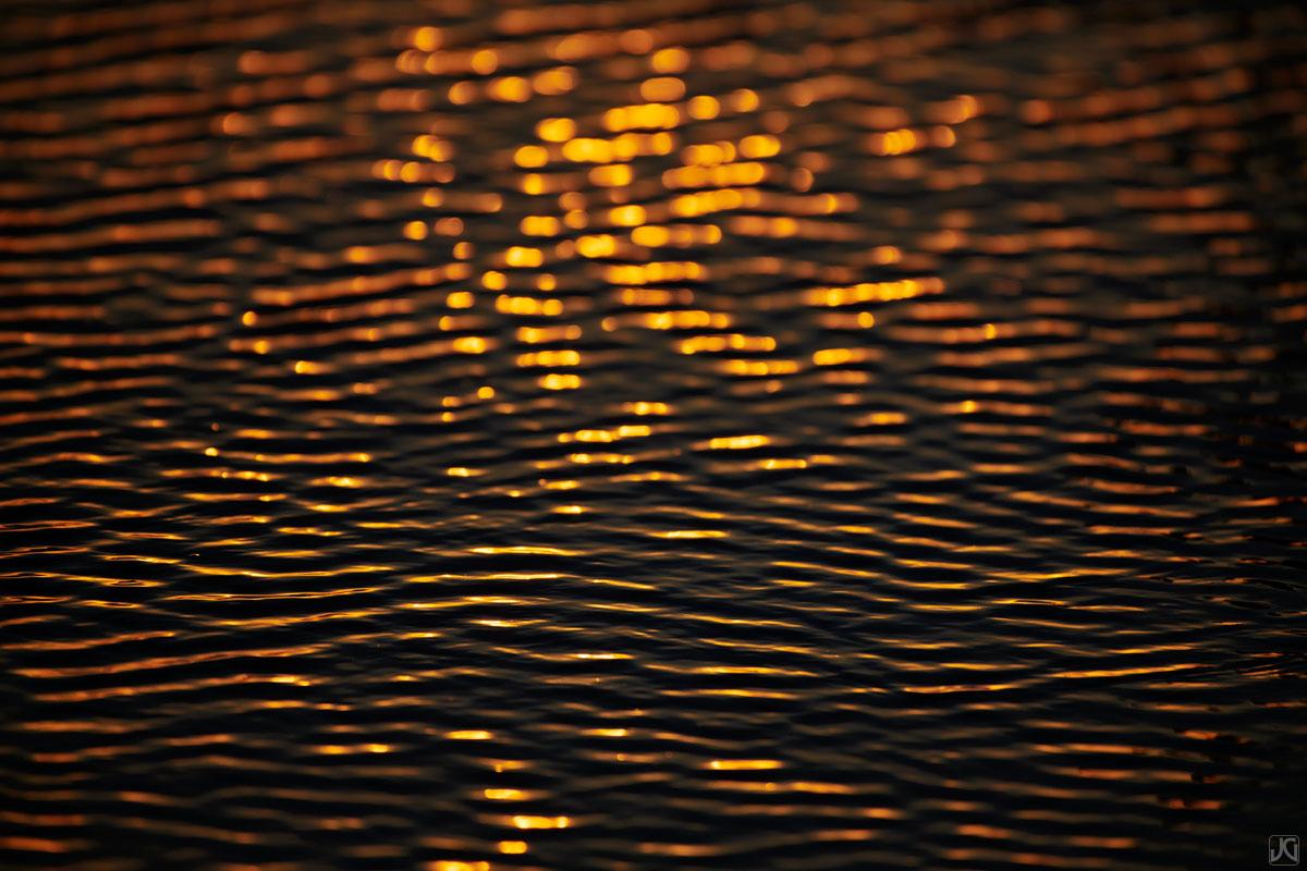 california, solana beach, beach, sunset, light, golden, gold, ripples, water, photo