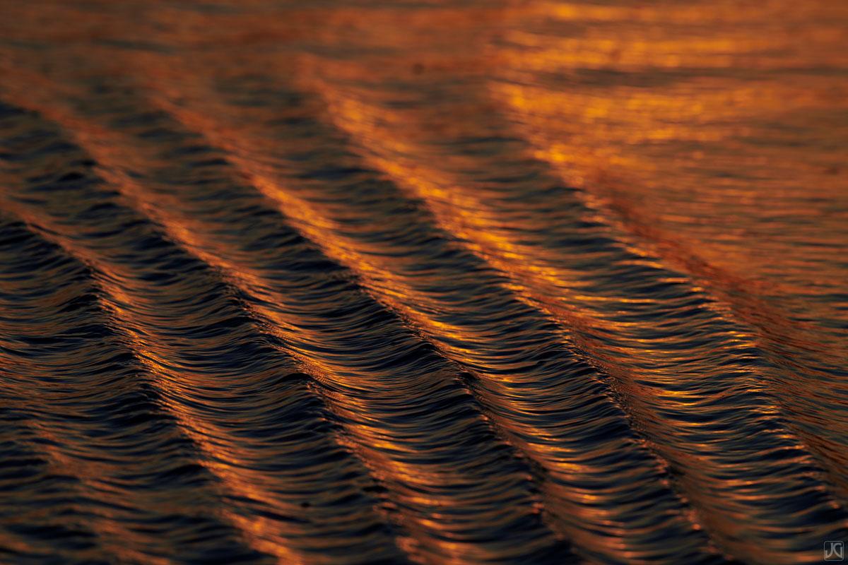 sunset, golden, beach, california, solana beach, ripples, shore, photo