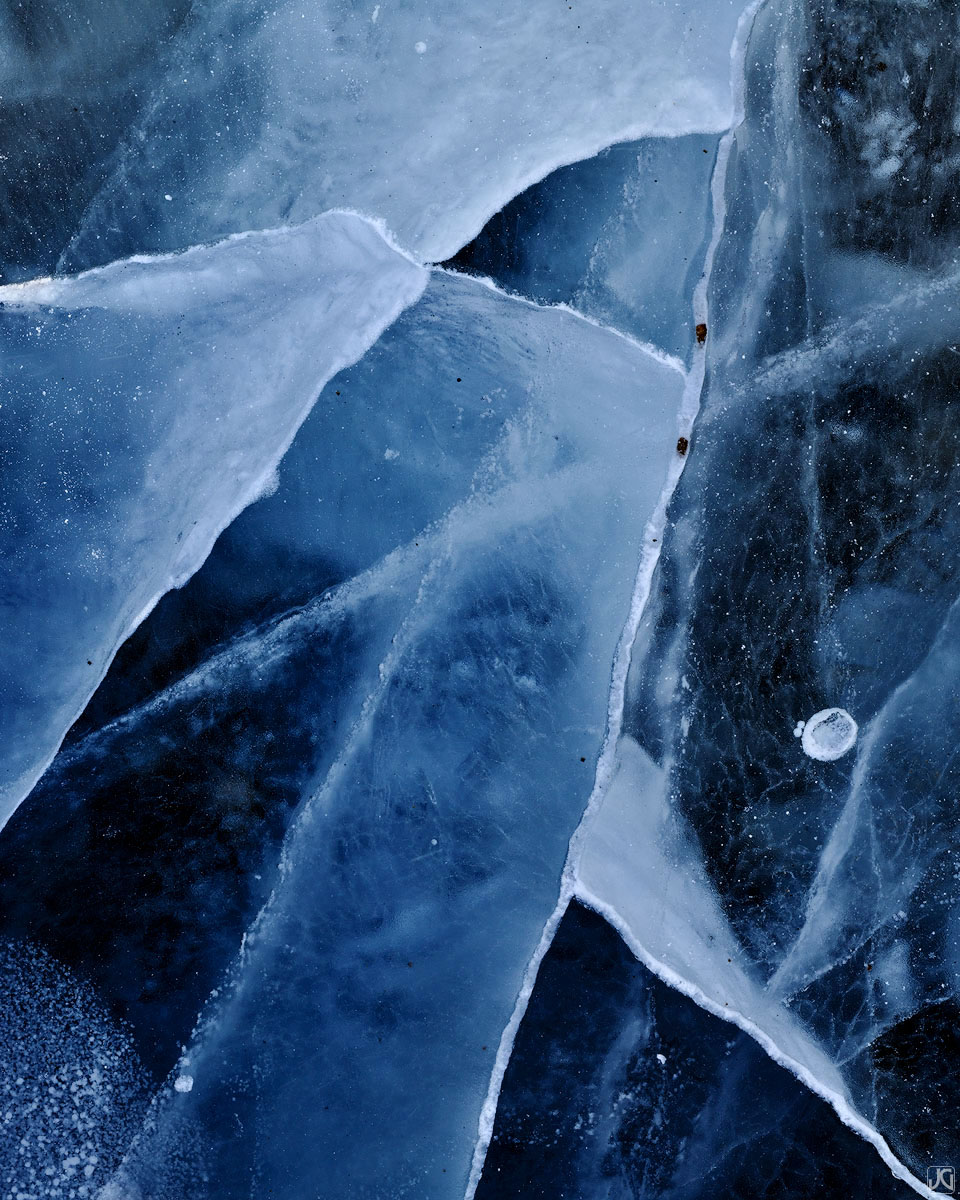 ice, frozen, lake, colorado, cracks, photo
